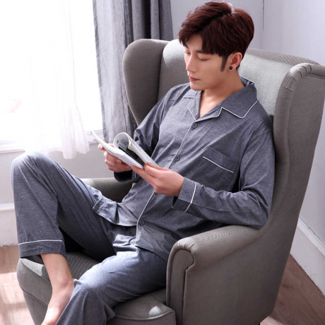 Autumn and Winter Men's Pajamas